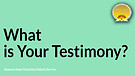 What Is Your Testimony Service Preview